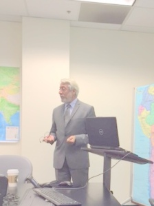 Admiral Shankar speaking at the Naval Postgraduate School, Monterey CA